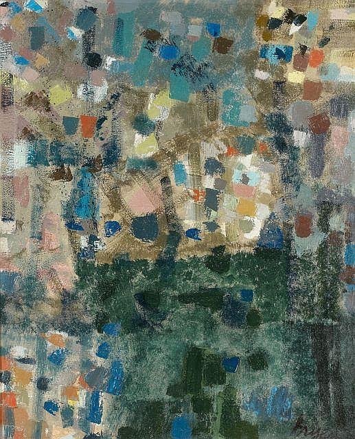 Camille BRYEN (1907-1977) ROSE HOTEL, n°206, 1958 Huile sur toile