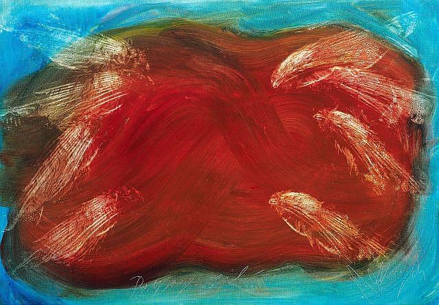 Jean MESSAGIER (1920-1999) PAYSAGE AILE, 1964 Huile sur toile