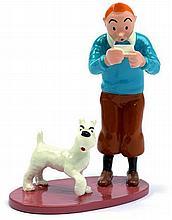 Tintin et Milou carte visite Rackham