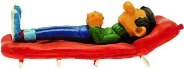 Gaston sur son lit decamp