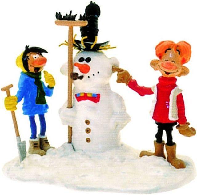 Gaston, Jules avec le bonhomme de neige
