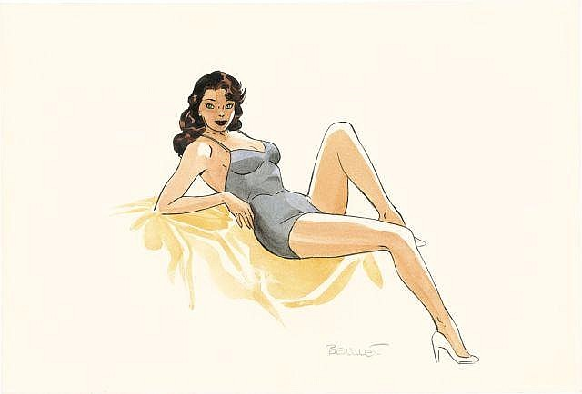 Philippe BERTHET Né en 1956 Pin-up