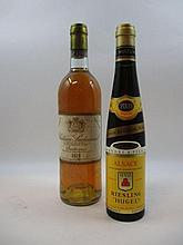 2 flacons 1 bt : CHÂTEAU SUDUIRAUT 1979 1er cru Sauternes (base goulot, étiquette abimée)