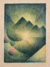 Félix TOBEEN 1880 - 1938 Composition Pastel sur papier