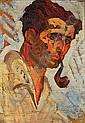 Maurice LOUTREUIL (1885-1925) PORTRAIT DU PEINTRE ERAN CHABAN Huile sur toile bH..., Maurice Albert Loutreuil, Click for value