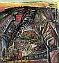 Aristide CAILLAUD (1902-1990) LE VILLAGE, 1961 Crayon et huile sur papier sign..., Aristide Caillaud, Click for value