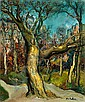 Isaac ANTCHER (1899-1992) PARC A PARIS, CIRCA 1950 Huile sur toile signée en b..., Isaac Antcher, Click for value