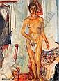 Isaac DOBRINSKY (1891-1973) JEUNE FILLE NUE, 1945 Huile sur toile signée et da..., Isaac Dobrinsky, Click for value