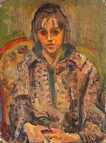Zygmund SCHRETER (1886-1977) FLEURS DANS UN VASE, PORTRAIT DE FEMME, CIRCA 1930 Huile su...