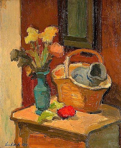 Ossip LUBITCH (1896-1990) NATURE MORTE, 1929 Huile sur carton marouflé sur toile ...