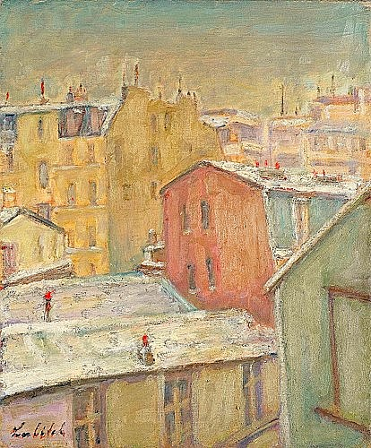 Ossip LUBITCH (1896-1990) RUE D'ODESSA, CIRCA 1930 Huile sur toile signée en b...