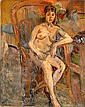 Lazare VOLOVICK (1902-1977) FEMME ASSISE SUR UN FAUTEUIL EN ROTIN, CIRCA 1930 Huile sur ..., Lazare Volovick, Click for value