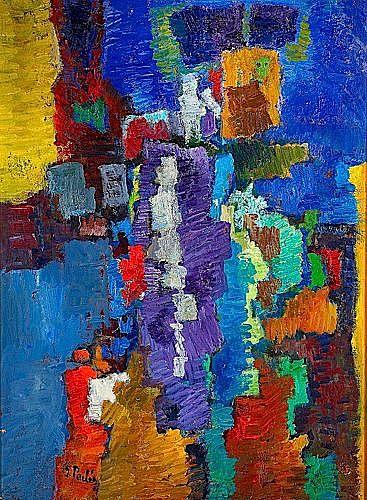 Isaac PAILES (1895-1978) COMPOSITION Huile sur toile signée en bas à gauchee5...