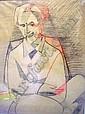Jeanne RIJ-ROUSSEAU (1870 - 1956) PORTRAIT D'HOMME Fusain et pastel sur papier b5...
