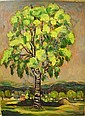 Michel ADLEN (1898 - 1980) ARBRE Huile sur toile, Michel Adlen, Click for value