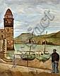 Simon MONDZAIN (1890-1979) PAYSAGE DE COLLIOURE, 1924 Huile sur toile, Simon Mondzain, Click for value