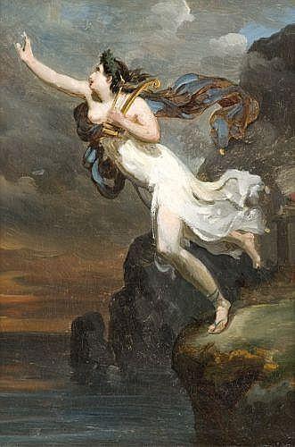 Attribué à Antoine-Jean, baron Gros Paris, 1771 – 1835 Sapho à Leucate Huile sur toile