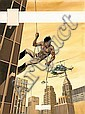 DANY Daniel Henrotin dit  (né en 1943)  ARLEQUIN Gouache de couleur pour la couverture de l'album «Les éléphants se plument à l'aub..., Daniel Henrotin, Click for value