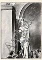 TARDI Jacques (né en 1946) LE LOUVRE - LA VÉNUS DE MILO Fusain sur papier pour une illustration réalisée en 1993. Tardi apparaît en ..., Jacques Tardi, Click for value