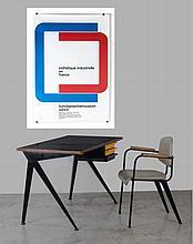 Carl Bernard GRAF (1926-1968) Esthétique Industrielle en France-1962 Affiche originale pour une exposition à Zurich en 1963