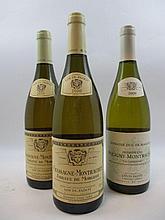 3 bouteilles 1 bt : CHASSAGNE MONTRACHET 2009 1er cru la Garenne. Domaine Duc de Magenta. Louis Jadot