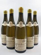 5 bouteilles CHABLIS 2005 1er cru Montée de Tonnerre