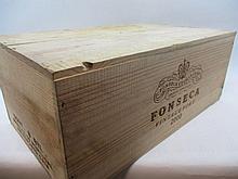 6 bouteilles PORTO FONSECA 2000 Vintage Caisse bois d''origine (Cave 15)