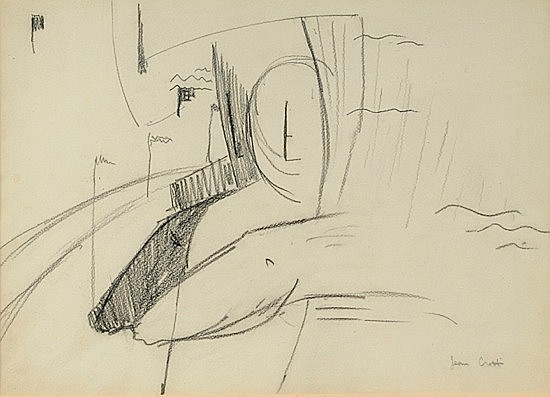 Jean CROTTI (1878-1958) COURSES, circa 1930 Dessin au crayon sur papier