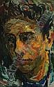 Charles TCHERNIAWSKY (1900 - 1976) PORTRAIT D'HOMME Huile sur toile