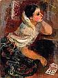Raymond KANELBA (1897-1960) LA CARTOMANCIENNE, 1928 Huile sur toile, Rajmund Kanelba, Click for value