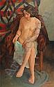Richard MAGUET (1896 - 1940) NU DANS UN FAUTEUIL Huile sur toile