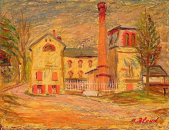 Maurice BLOND (1899-1974) VUE DE VILLAGE, 1930 Huile sur toile
