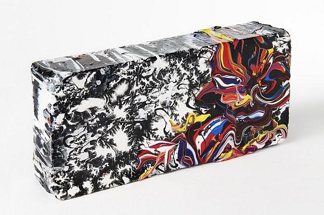 katrin FRIDRIKS (Née en 1974) MOTHER NATURE WORK, 2010 Acrylique sur brique laquée