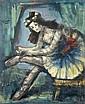 Pedro FLORES (1897 - 1967) LA BALLERINE Huile sur toile