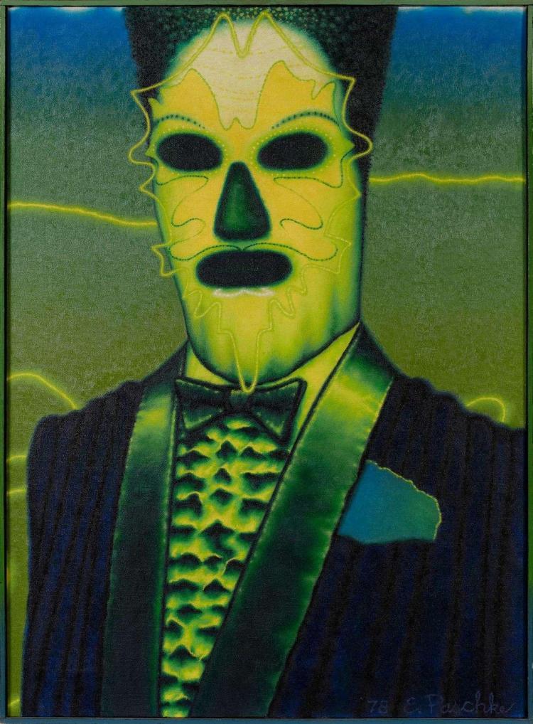Ed PASCHKE (1939-2004) BOMBALIA, 1978 Huile sur toile