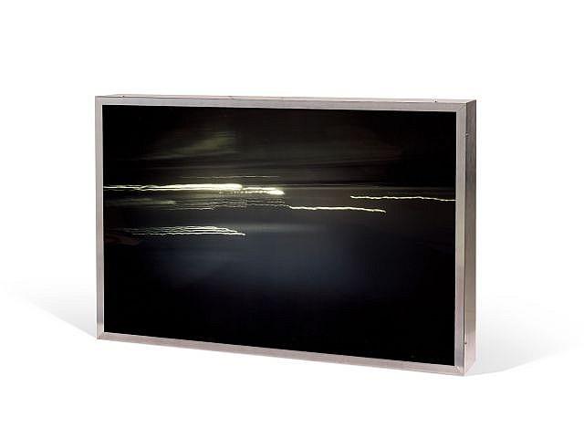 Luca PANCRAZZI (né en 1961) 24 ORE SU ORE, 1999 Caisson lumineux, système électrique