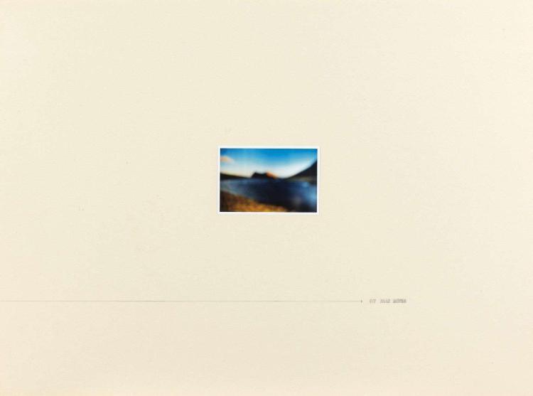 Gilles BARBIER (né en 1965) LES VISIONS DE L'AVENIR, 1997 Ensemble de trois dessins au crayon et photographie couleur collée sur car..
