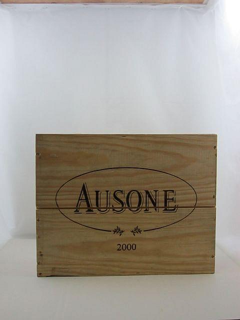 3 bouteilles CHÂTEAU AUSONE 2000 1er GCC (A) Saint Emilion Caisse bois d'origine