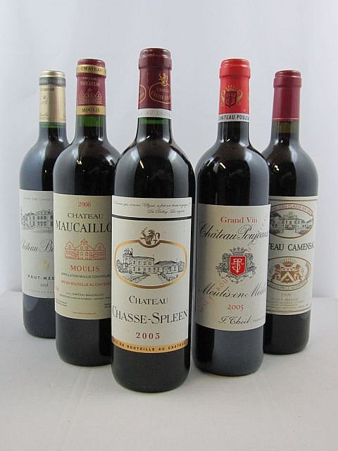 11 bouteilles 2 bts : CHÂTEAU BELGRAVE 2003 5è GC Haut Médoc