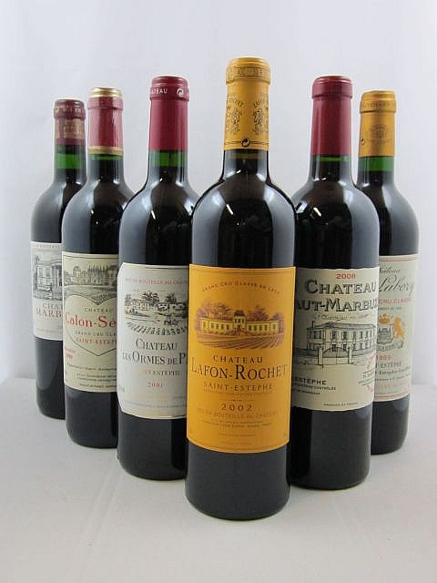 10 bouteilles 2 bts : CHÂTEAU HAUT MARBUZET 2008 CB Saint Estèphe