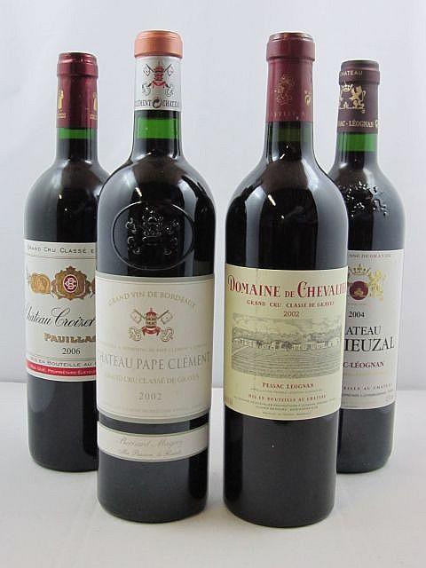 11 bouteilles 2 bts : CHÂTEAU PAPE CLEMENT 2002 CC Pessac Léognan