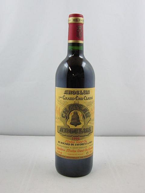 1 bouteille CHÂTEAU ANGELUS 1996 1er GCC (A) Saint Emilion