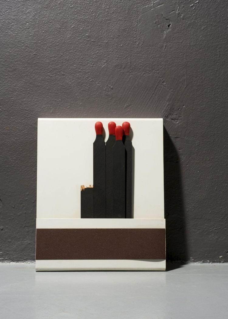 raymond hains 1926 2005 seita 2000 plexiglas bois peint. Black Bedroom Furniture Sets. Home Design Ideas