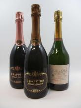 3 bouteilles 1 bt : CHAMPAGNE DRAPPIER 2008 Grande Sendrée