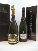 2 bouteilles 1 bt : CHAMPAGNE PIPER HEIDSIECK 2002 Cuvée Rare (étui d'origine)