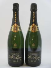 5 bouteilles CHAMPAGNE POL ROGER 2004 Extra Cuvée de Réserve (deux habillages diférents) (Cave 1)