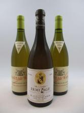 3 bouteilles 2 bts : CHÂTEAUNEUF DU PAPE 1996 (blanc) Château Rayas
