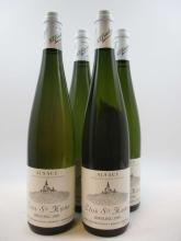 4 bouteilles ALSACE RIESLING 1990 Clos Sainte Hune