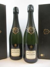 6 bouteilles CHAMPAGNE BOLLINGER 1996 Grande Année (étiquettes fanées