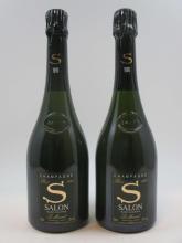 2 bouteilles CHAMPAGNE S DE SALON 1990 Le Mesnil